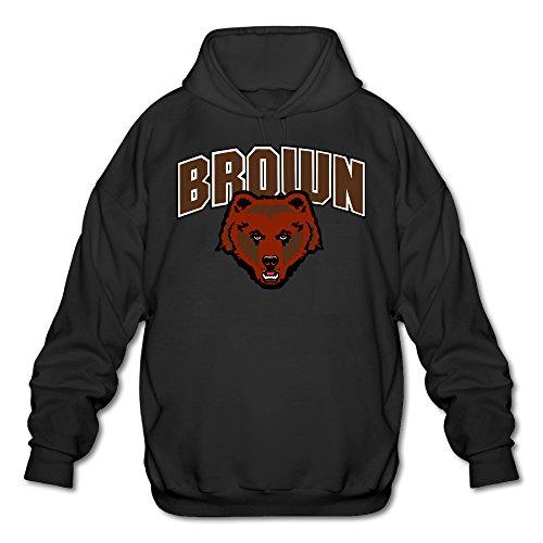 AUSIN Men's Brown University Sweatshirt Black Size XL