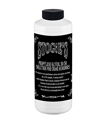 8 oz. Stogies Large Cigar Humidor Solution Propylene Glycol 50/50 (Distilled Water Humidor)