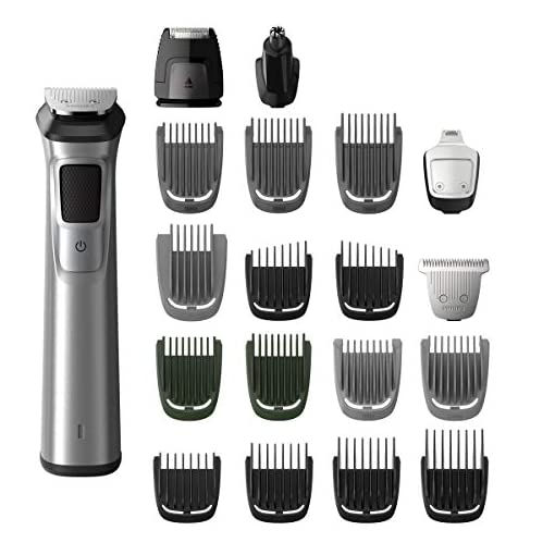 philips norelco stainless steel multigroom - 413YhhVMTCL - Philips Norelco Stainless Steel Multigroom All-in-One Trimmer