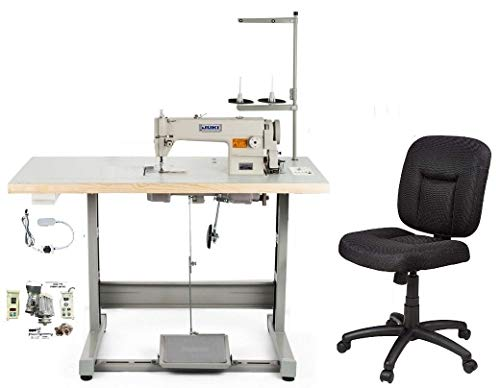 Industrial Sewing Machine Juki DDL-8700 Lockstitch Sewing Machine with Ergonomic Chair + Servo Motor + Table Stand Cut Juki DDL8700 Combo + LED Lamp Commercial Grade Sewing Machine