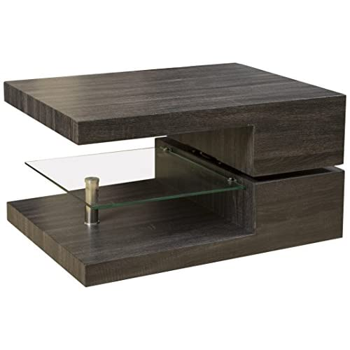 Great Deal Furniture Bushwick Rectangular Rotating Wood Coffee Table