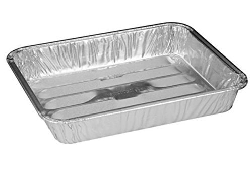 Handi-Foil 8'' x 7'' x1.3'' Small Mini Toaster Oven Broiler Baking Pan (pack of 100)