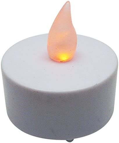 Bluedot Trading Flameless Battery Operated LED Tea Lights, Amber Color Flame, 144-Pack