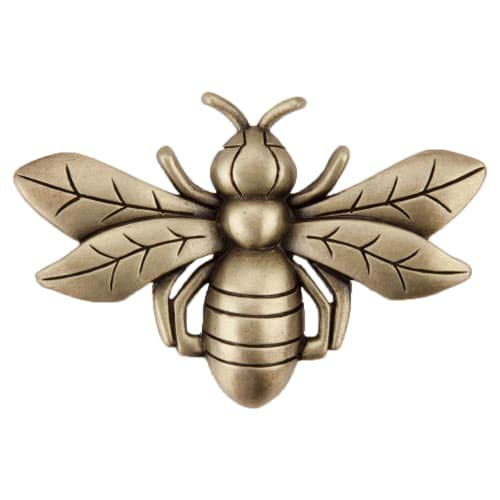 Knob Bee (Acorn Manufacturing DQ7AP Artisan Collection Bee Knob44; Antique Brass)