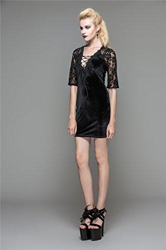 Women Dress Mini Devil Casual Bandage Sexy Dresses Bodycon Lace Fashion nOxtax715