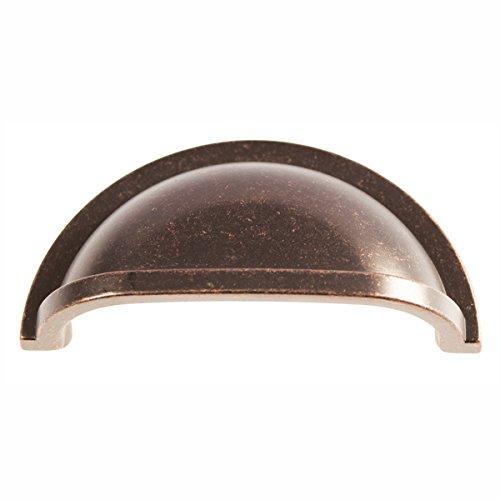 Hickory Hardware P3055-DAC Williamsburg Cup Cabinet Pull, 3-Inch, Dark Antique ()