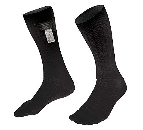 Alpinestars 4704318-10-L ZX V2 Nomex Socks, Black, Size L, FIA 8856-2000 by Alpinestars