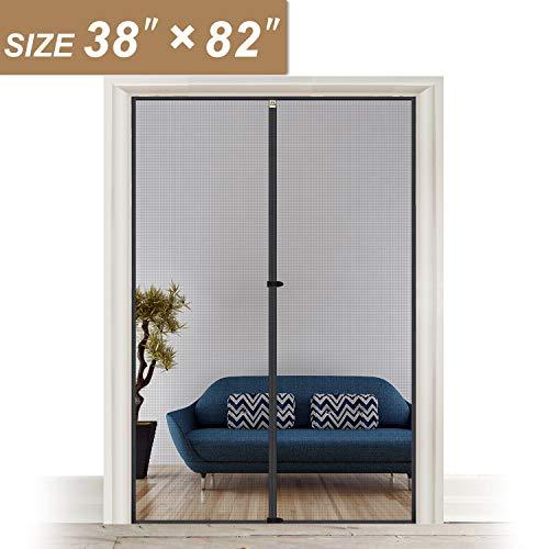 Fiberglass Door - Magnetic Screen Door 38 x 82, Upgraded Anti-Tearing Fiberglass Mesh French Door Screens with Magnets Fit Doors Up to 38