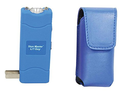 Stun Gun Mini Mighty 12 Million Volt with Leatherette Carrying Case (Blue)