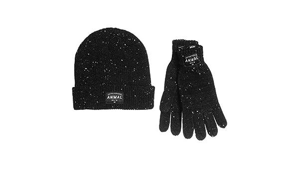 Animal Mens Falcann Allex Hat and Gloves Set - Black - OS at Amazon Men s  Clothing store  8744d3f241db