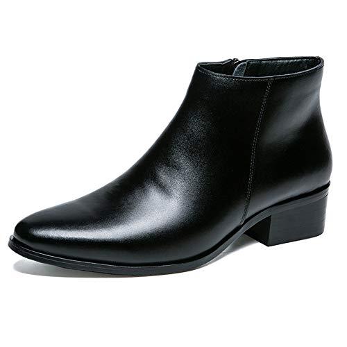 Stivali Grosso Alto Tacco Nera in Black Martin alla Stivali Brogue Uomo Chelsea con Classic Pelle Formale Stivali Caviglia Desert Tacco qOyapwFP