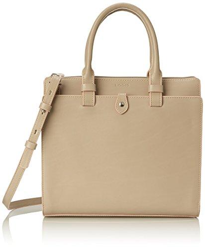 Lodis Audrey Linda Medium Satchel Top Handle Bag, Taupe/Blush, One Size (Audrey Lodis Satchel)