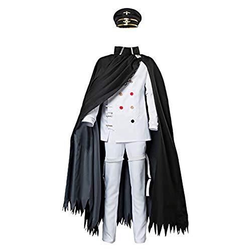 UU-Style Danganronpa V3 Killing Harmony Ouma Kokichi Cosplay Costume Cloak School Uniform Halloween Suit Outfit (Female:X-Large) White ()