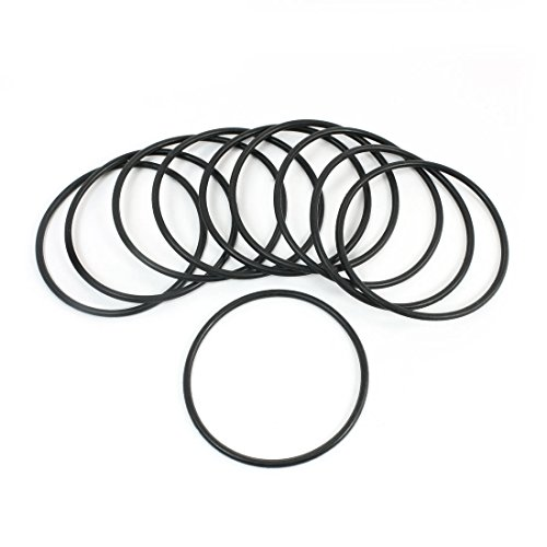 48mm x 44mm x 2mm Rubber Oil Seal O Ring Gasket Washer Black 10 Pcs -