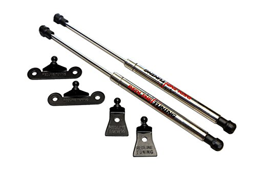 Redline Tuning 21-11025-03 Ford Focus Hood QuickLIFT ELITE Bolt in Struts (Stainless Steel) & Compatible With All Hoods
