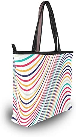 LORONA Sac à main en toile pour femme Motif abstrait coloré