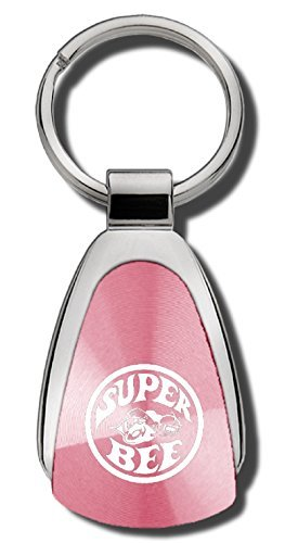 Au-TOMOTIVE GOLD Compatible Super Bee Keychain and Keyring [KCPNK.SUPB] - Pink Teardrop