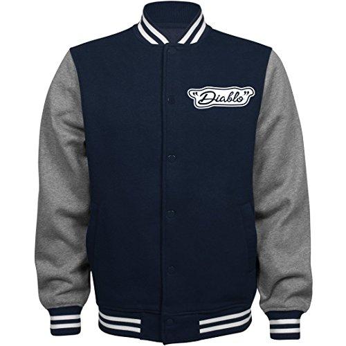 El Diablo Costume Jacket: Unisex Fleece Letterman Varsity Jacket