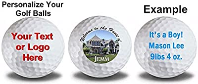 3 Pack Custom Logo Golf Balls Upload Your Own Text Or Image