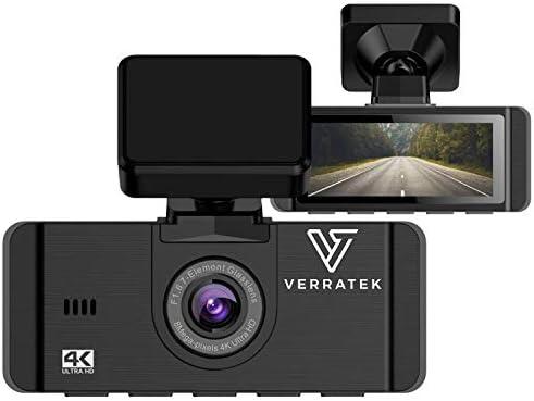 4K Dash Cam with Built-in GPS, Verratek C800 Pro Dashcam, Sony Car Camera Sensor for Superb Night Vision, Dash Camera for Cars, Loop Recording, G-Sensor Emergency Recording, Support 256GB