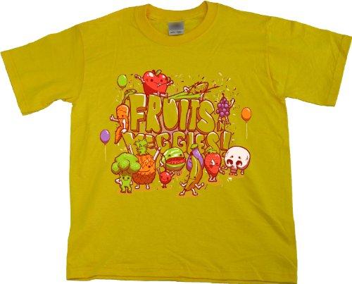 Ann Arbor T-shirt Co. Unisex-child FRUITS N' VEGGIES T-shirt