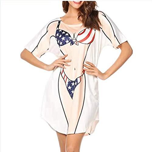 PERFECTHA Bikini Print Tshirt Losse Bikini Tshirt Grappige Zachte Comfortabele Tshirt Jurk Voor LadiesDaily Wear…