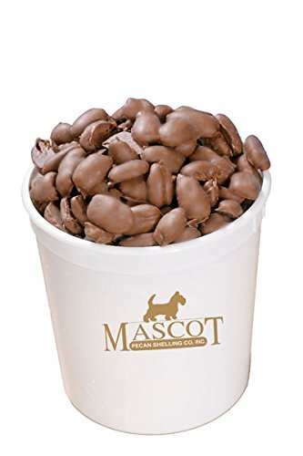 Mascot Pecan Gifts - Smooth Milk Chocolate Covered Georgia Pecans arrives in our White Mascot Gift