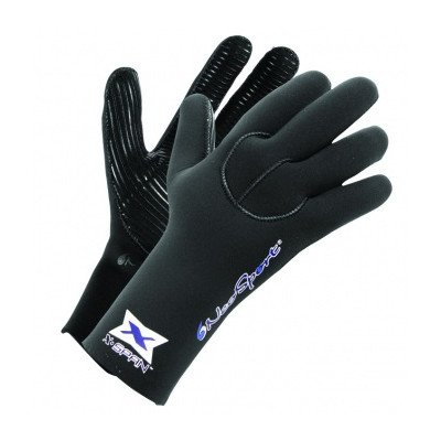 NeoSport 5-mm XSPAN Glove (Black, Large) - Diving, Snorkeling & Waterskiing (5mm Dive Ultra Boot)