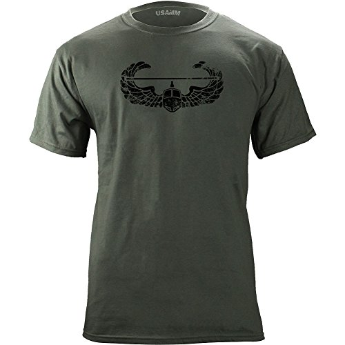 Vintage Army Air Assault Badge Subdued Veteran T-Shirt (XL, Green)
