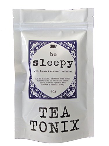 Valerian Root Tea (BE SLEEPY Relaxing Bedtime Tea with Valerian, Kava Root, Chamomile, and Lavender 40g - for Relaxing, Calming the Nervous System, and Promoting a Restful Sleep by Tea Tonix)