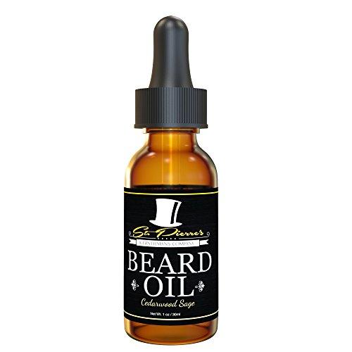 Best Manly Beard Oil & Conditioner for Men - 1 oz - Cedarwood Sage