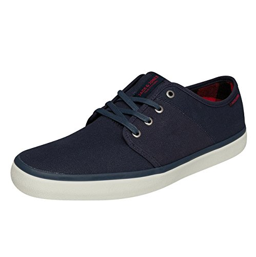 Jack & Jones - JJ Jfwturbo Waxed Canvas - Sneaker (40, Navy Blazer (Blau))