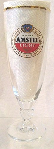 Amstel Light Glass, Amstel Light Gold Band Chalice, Amstel Light Pilsner Glass, Amstel Light Beer Glass ()