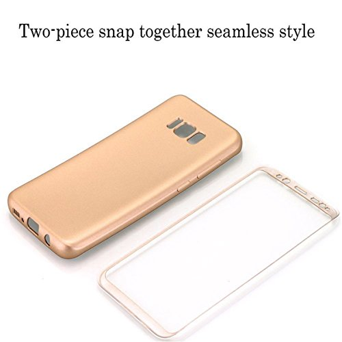 Samsung Galaxy S8/S8 Plus Coque Galaxy S9/S9 Plus Housse 360 Protection 2 en 1 Full Cover Coque Adamark Shockproof PC Avant TPU Arrière Bumper Etui Case pour Samsung Galaxy S8/S8 Plus S9/S Plus(sans Or