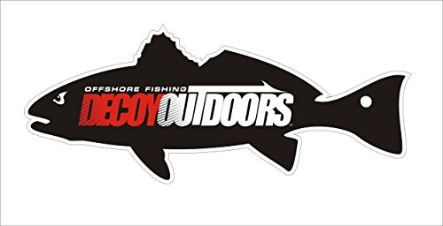 1 - Decoy Outdoors Redfish Sticker Decal, Red Drum Sticker, Great for your Tackle Box, Cooler, Car, Truck, Boat, Saltwater Fishing Sticker Decal