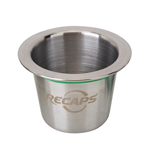 RECAPS Stainless Steel Refillable Pod Reusable Pod Compatible with Nespresso Original Line Machine But Not All (Only 1 Pod, Lids excluded)