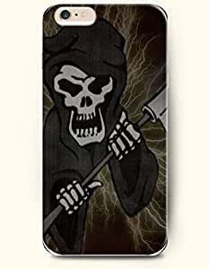 SevenArc Phone Case for iPhone 6 Plus 5.5 Inches with the Design of Skull with Weapon