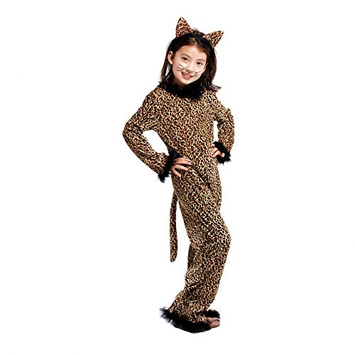 Costumes for Girls,Halloween Masquerade Cheetah Leopard Cosplay Costume Fancy Party Kid's Costume Jumpsuits & Rompers
