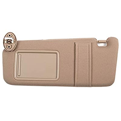 Ezzy Auto Beige Left Driver Side Sun Visor fit for Toyota Venza with Sunroof 2009 2010 2011 2012 2013 2014 2015 2016: Automotive
