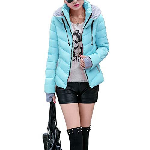 Nuovo Inverno Yefree Blu Tops Femminile Abbigliamento Paragrafo Guanti Cappotto Colore Vestibilità Mantieni Slim Splicing Breve Caldo Autunno Collo Alto E BCwfq