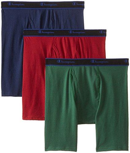 Champion Mens Performance Long Leg Boxer Briefs, 3 Pack