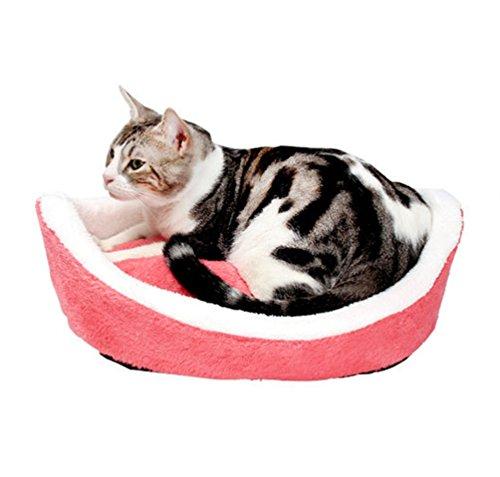 LvRao 2 in 1 Pet Casa Nido a Forma di Conchiglia Accogliente Caldo Cuscino Cuccia Morbido Letto per Cani Animale (Rose… 3 spesavip