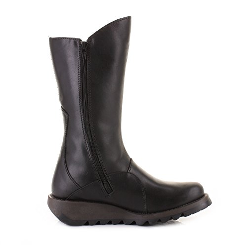 Fly SIZE 6 2 Mid Black Mes London Boots Calf Womens Leather fvFwzdqd