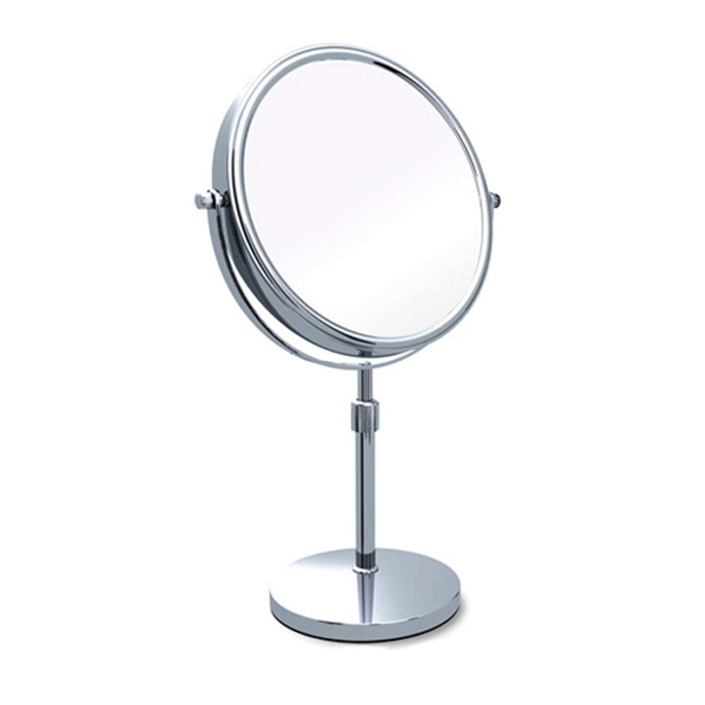 Makeup Mirror Double-Sided 8-Inch 360°Rotating Tabletop Adjustable Height Vanity Mirror, Optional 3X/5X/7X/10X Magnification