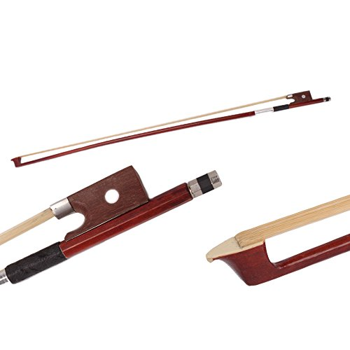 [Z ZTDM Arbor Mongolian Horsehair Violin Bow (3/4 Size)] (Hair Bows Finger)