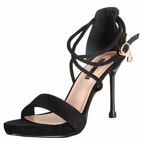 KPHY Schöne Schuhe Sandalen Sommer Wild Nackten Zehen Schnallen Schnallen Schnallen Taschen Schuhe Crotver 10 Cm High Heels Damenschuhe. 74ac38