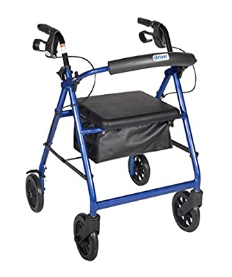 "Aluminum Rollator with 7.5"" Casters"