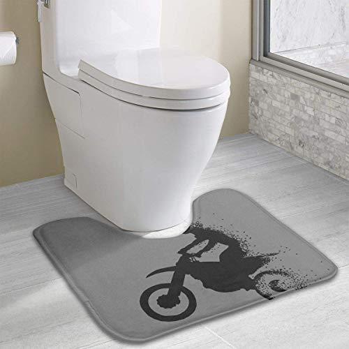 Beauregar Motorcycle Off-Road Race U-Shaped Countour Rug Bathroom Rug Mats Toilet Floor Rug 19.2″x15.7″