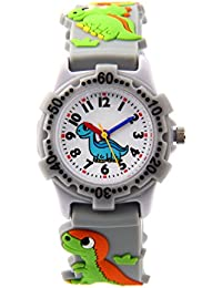 Waterproof Kids Watch for Girls Boys Time Machine Analog Watch Toddlers Watch 3D Cute Cartoon Silicone Wristwatch Time Teacher for Little Kids Boys Girls Birthday Gift Toys
