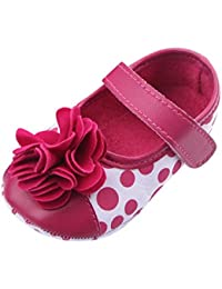 Baby Girls Polka Dots Flats Bowknot Soft Sole Crib Shoe